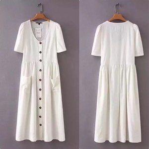 Baao Linen Button Maxi Dress